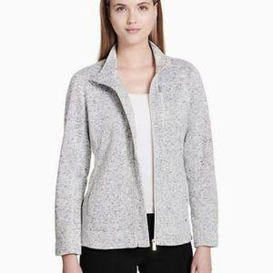 Calvin Klein Heathered Fleece Zip Jacket